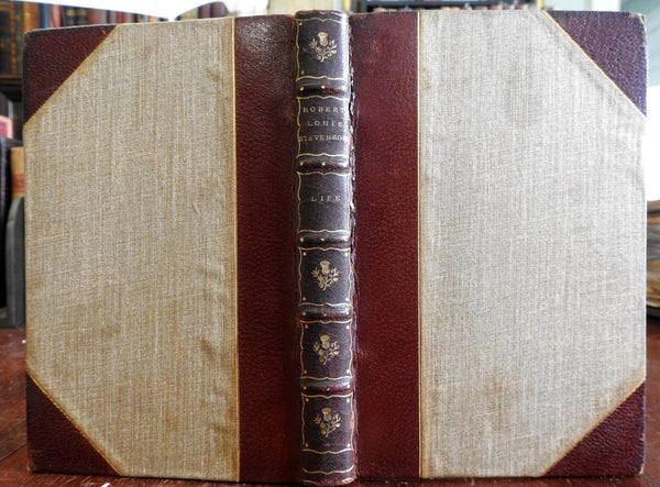 Life Robert Louis Stevenson 1914 Biography Graham Balfour nice old leather book