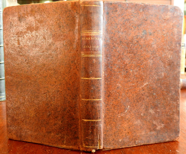 Creation Philosophical Poetry 1806 American Edition Sir Richard Blackmore