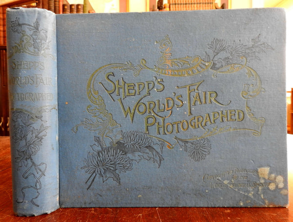 Shepps' Columbian World Fair 1893 Chicago monumental rare illustrated photo book