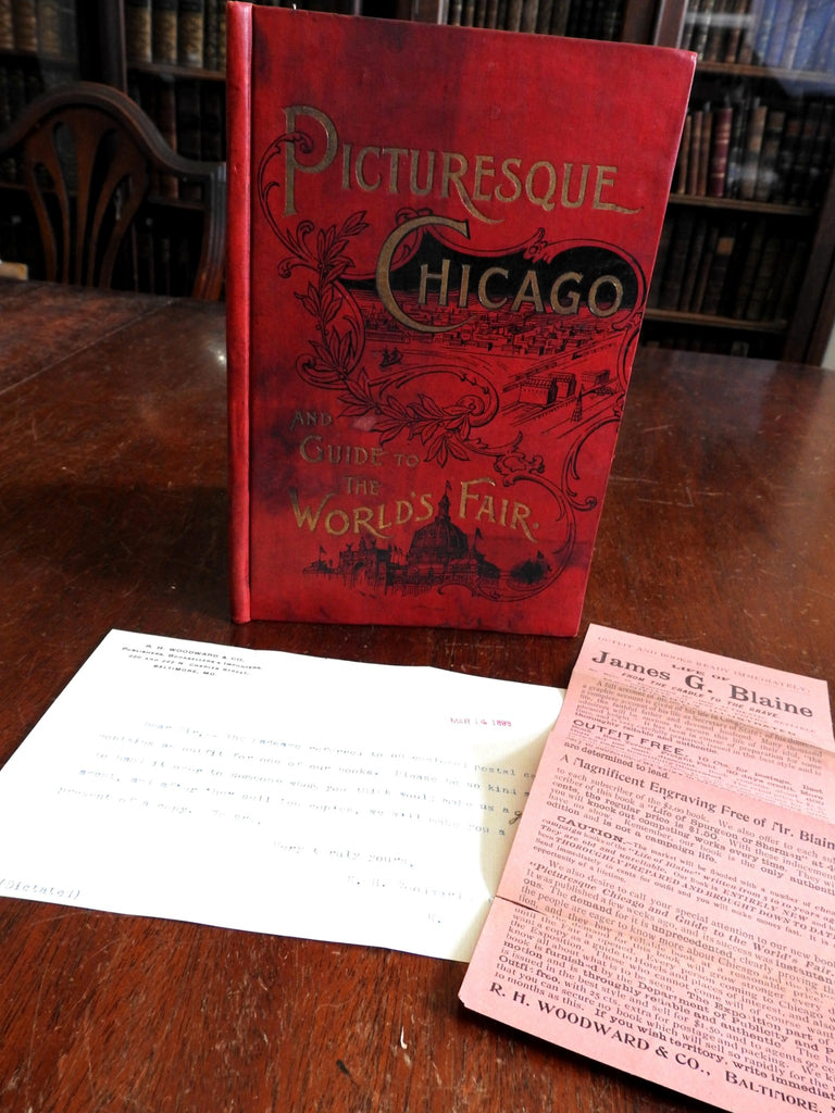 Picturesque Chicago & World's Fair Guide 1898 Publisher's Sample Book