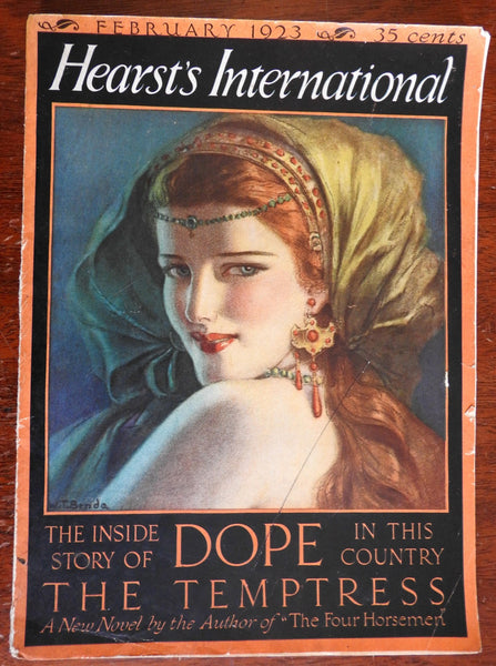 Dope Smuggling Drugs Cocaine Morphine story 1923 Hearst Cosmopolitan Magazine