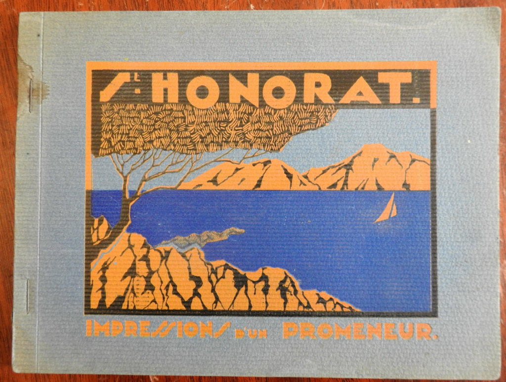 Saint-Honorat French Riviera Souvenir Photo Album 1930's w/ 18 fine view plates