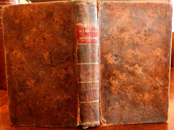 Christian Doctrine 1835 Theology Socinianism old leather book American religion