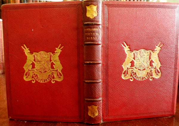 Collected Poetry of James Montgomery 1850 lovely gift edition old leather book