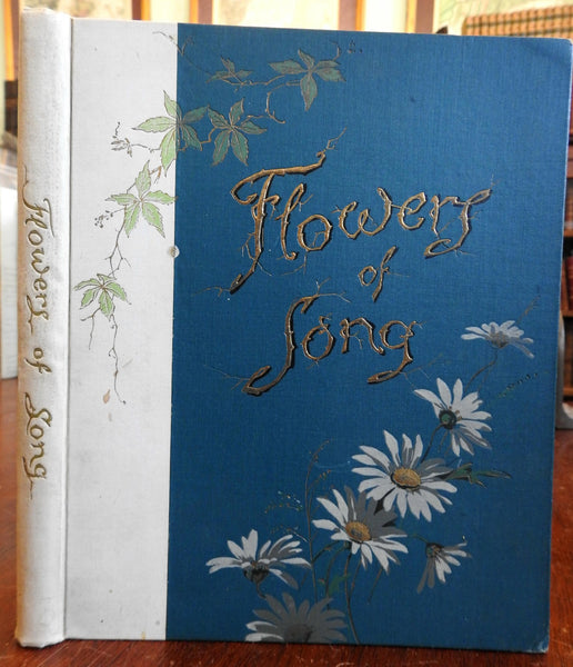 Flowers of Song c. 1890 Poetry Collection F.C. Weatherly illustrated old book