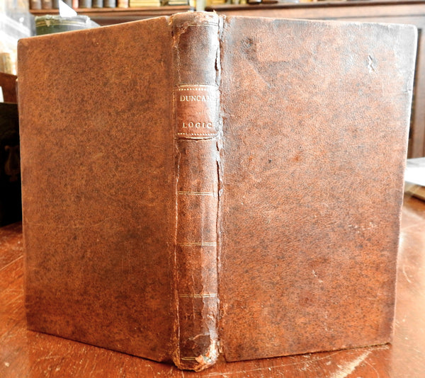 Elements of Logic 1811 William Duncan nice American leather book Albany NY