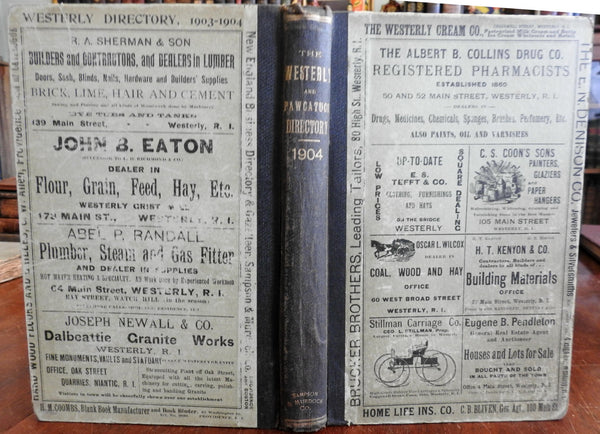 Westerly & Pawcatuck Rhode Island 1903-4 City & Business Directory advertising