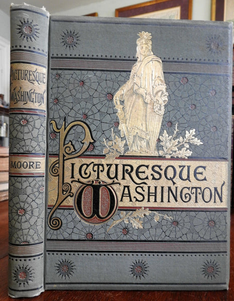 Picturesque Washington 1884 Souvenir Gift Binding Profusely Illustrated book