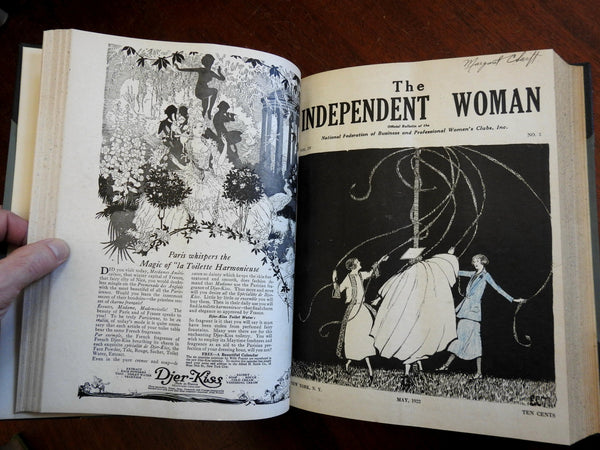 Independent Woman 1922-4 rare magazine book 30 issues illustrated early Feminism