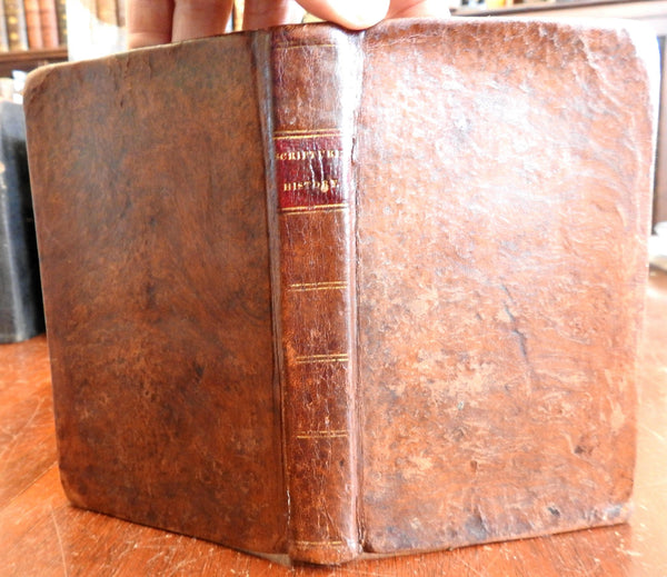 Short View of Scripture History 1819 Watts Jewish History rare Leather Book
