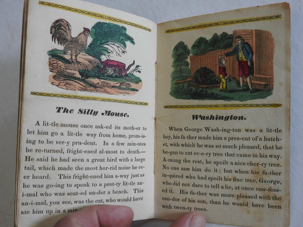 Child's Medley 1836 Early children's chapbook George Washington cherry tree