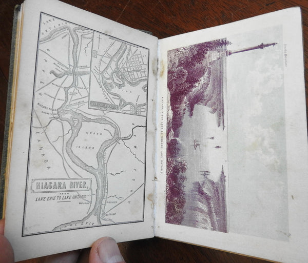Niagara Falls New York 1859 Tourist Travel Guide w/ 12 color view plates & map