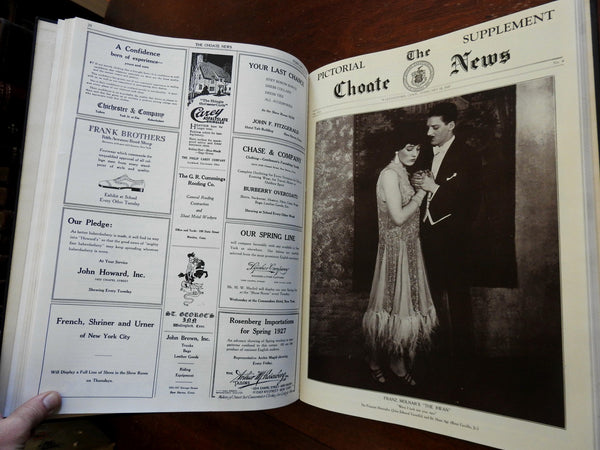 Choate Prep School Newspaper 1926-1927 complete 28 issue run illustrated book