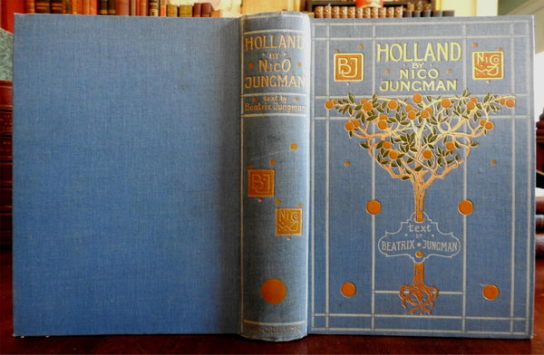 Holland Netherlands 1904 Nico Jungman decorative binding old book