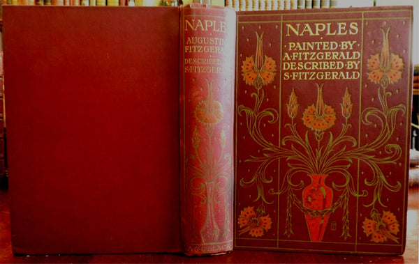 Naples Napoli Italy Italia 1904 Fitzgerald A & C Black decorative old book