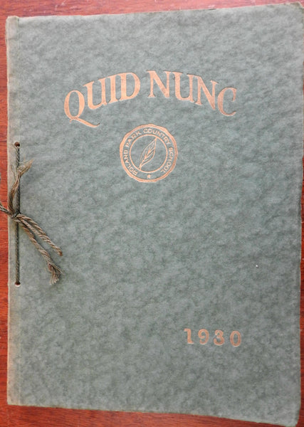 Roland Park Country Girl's Boarding School 1930 rare Yearbook Quid Nunc Maryland
