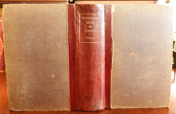 Household poetry 1865 Charles A. Dana monumental leather book