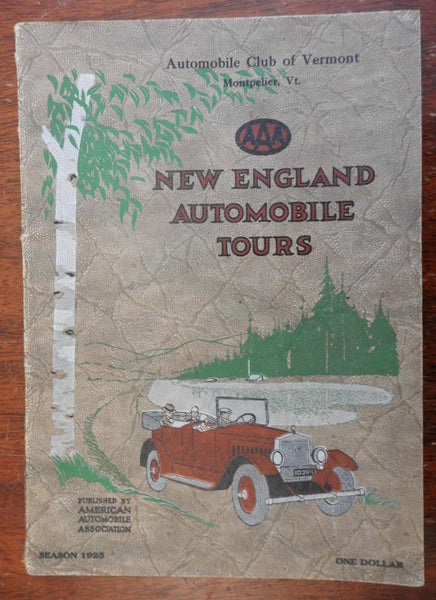 New England Automobile Tours 1925 AAA road atlas driving routes roadways 66 maps
