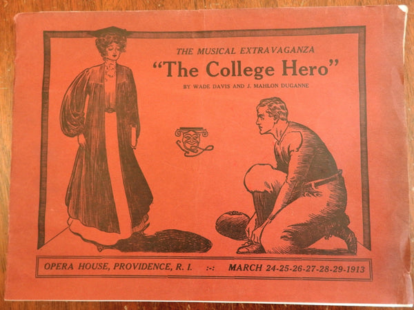 Providence Opera House 1913 College Hero Playbill Pamphlet  souvenir