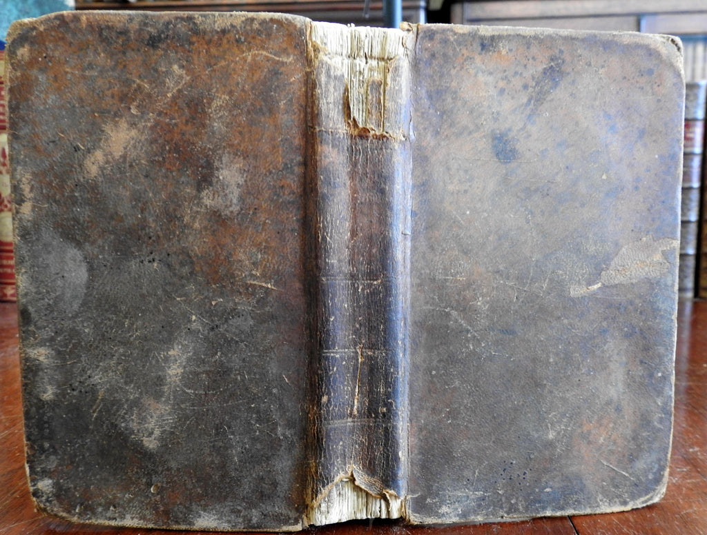 Job Scott Christian Minister's 1797 Journal Travelogue NY leather book