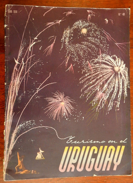 Uruguay So. America Tourism Bureau Travel Guide c. 1950 rare photo brochure