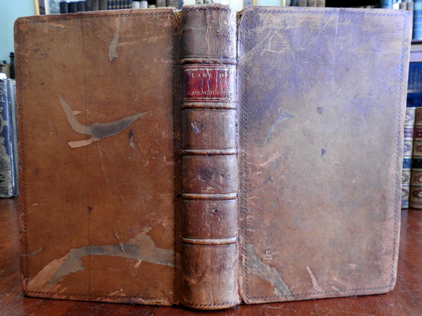 Laws of Commonwealth of Massachusetts 1807 American leather book