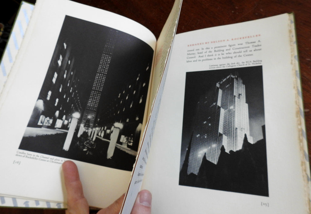Rockefeller Center NY story 1940 Art Deco illustrated New York architecture book