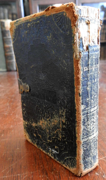 New Testament Holy Bible 1856 Dover New Hampshire early owner J.H. Hutchins