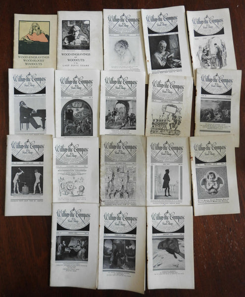 Graphic Arts Print Shops Engravings 1925-1935 lot of 18 small magazines