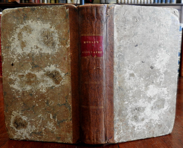 Jedidiah Morse's World Geography ancient & modern 1824 early school book
