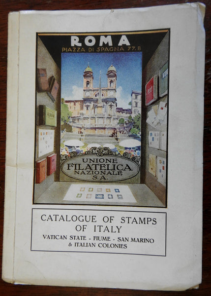 Stamps of Italy Italia Philately 1930 pictorial book stamp collecting scarce