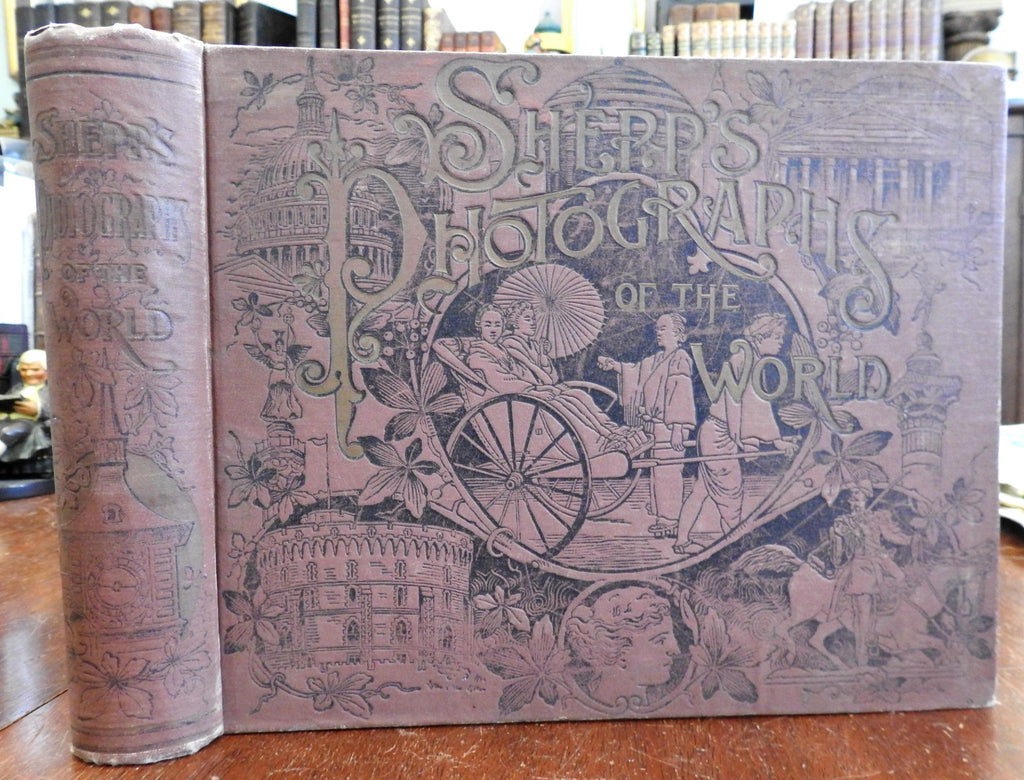 Shepp's Photographs of the World 1891 beautiful binding profusely illustrated