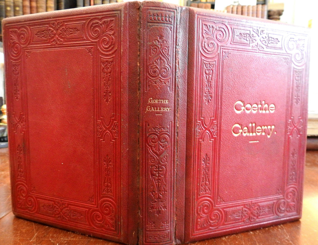 Goethe Female Characters 1880's lovely leather book w/ 22 albumen photographs