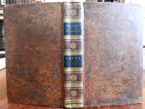 Elegant Extracts: Useful and Entertaining Passages 1801 decorative leather book