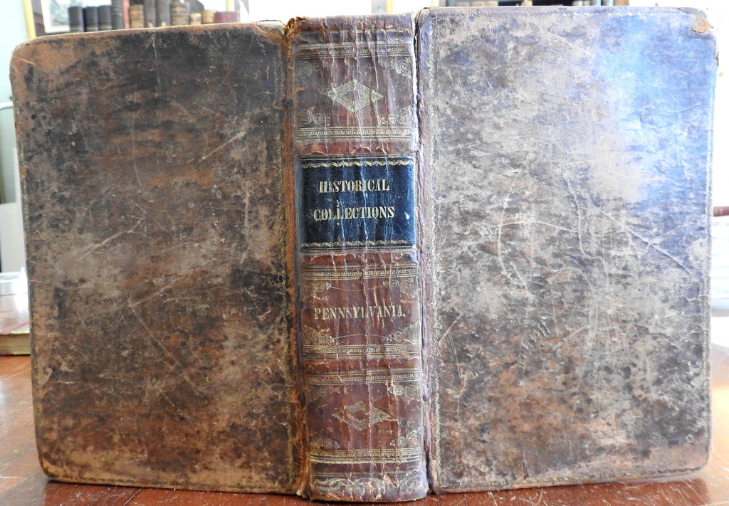 Pennsylvania state Historical Collections c. 1848 Day illustrated leather book