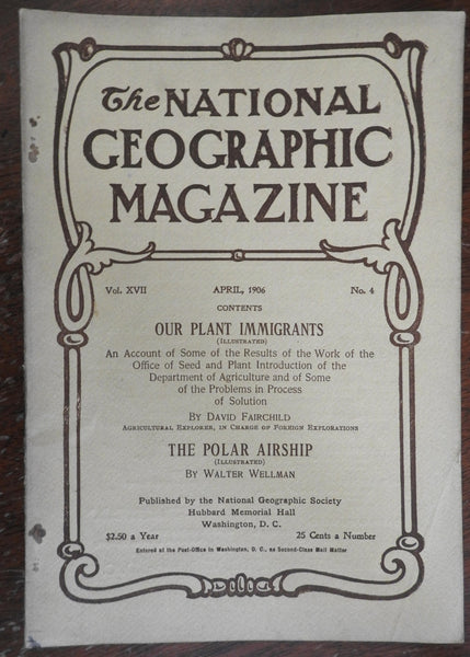 Polar Airship & American Agricultural Protection 1906 National Geographic mag
