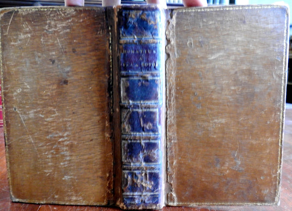 Horace Roman Latin Poetry Collected Works 1821 Bothe nice old leather book