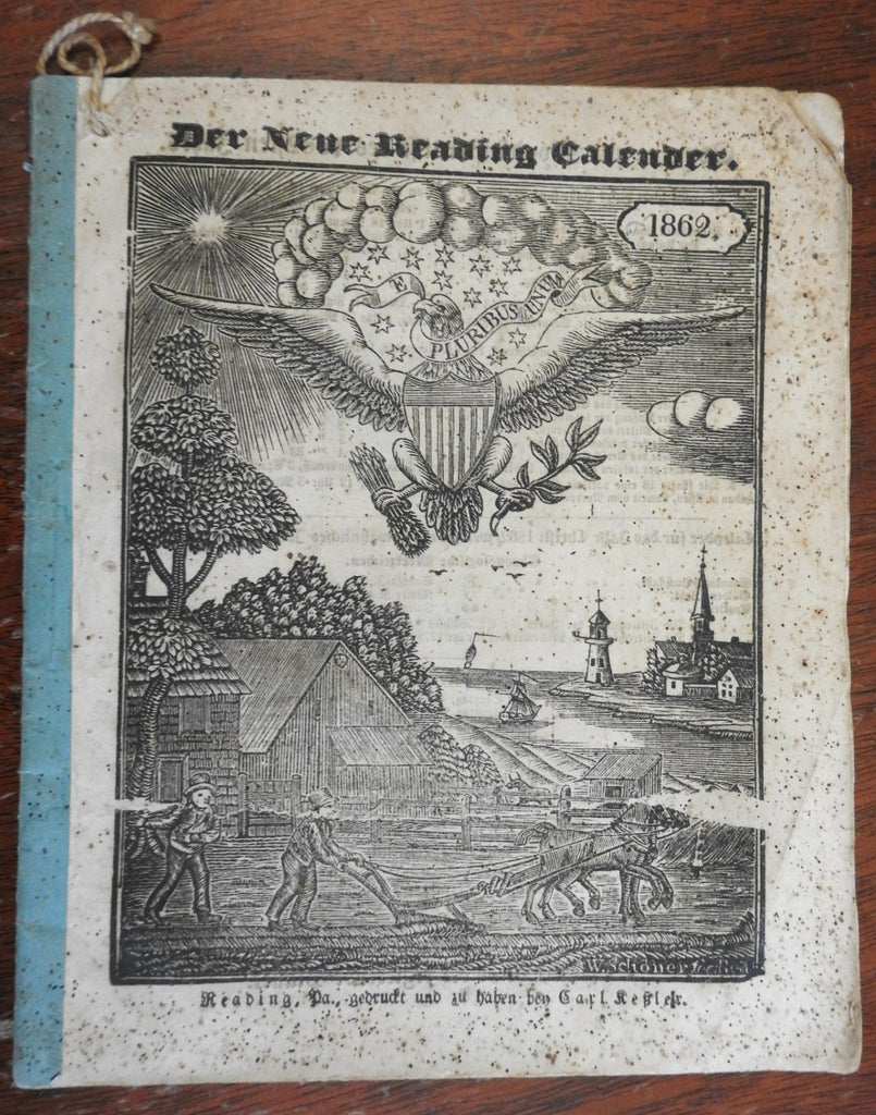 Reading Pennsylvania German almanac 1862 illustrated calendar Pennsylvania Dutch
