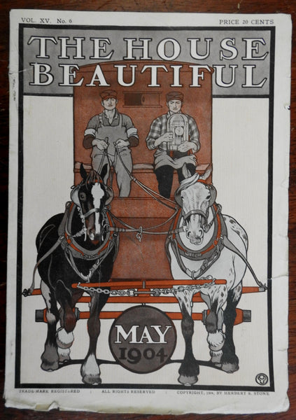 Penfield art cover 1904 House Beautiful illustrated American magazine great ads