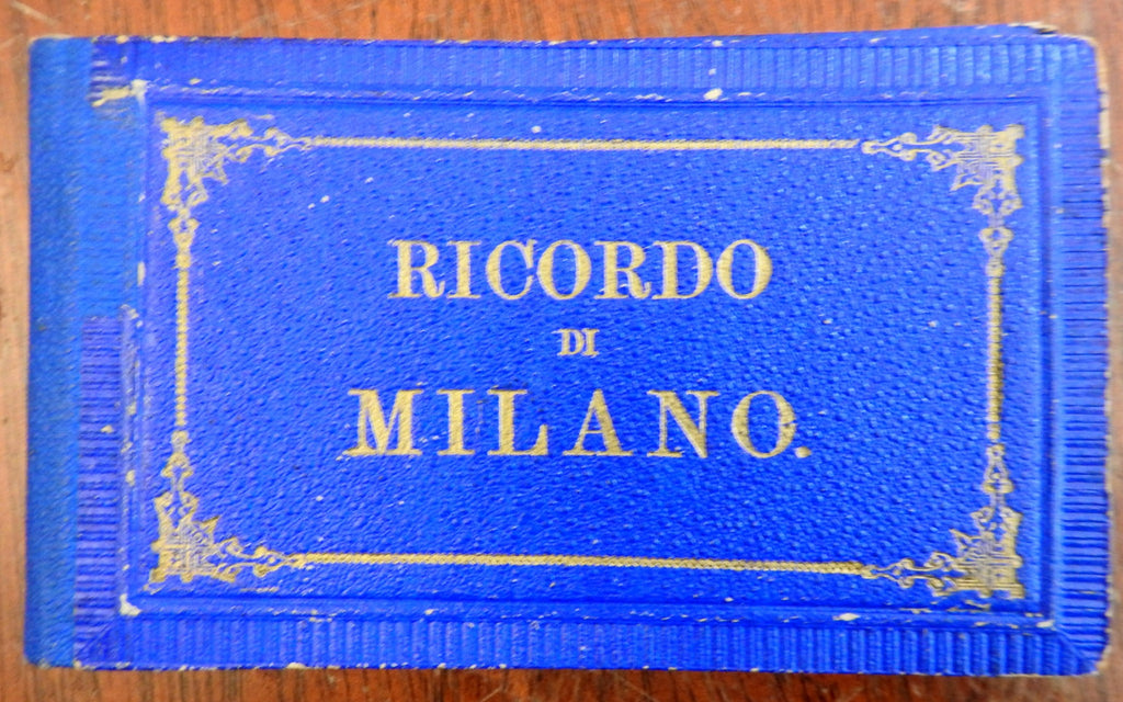Milan Italy Milano Italia c. 1879 tourist souvenir photo view book album