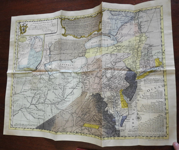 Lewis Evans 1755 Historic Map 13 Colonies America 1953 Limited Ed. issue in case