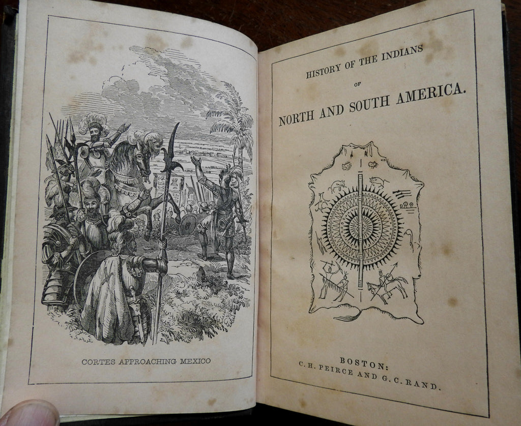History of American tribal Indians North America 1849 book illustrated wood cuts