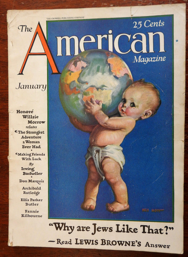 American Magazine 1929 Nell Hott cover illustrated magazine period advertising