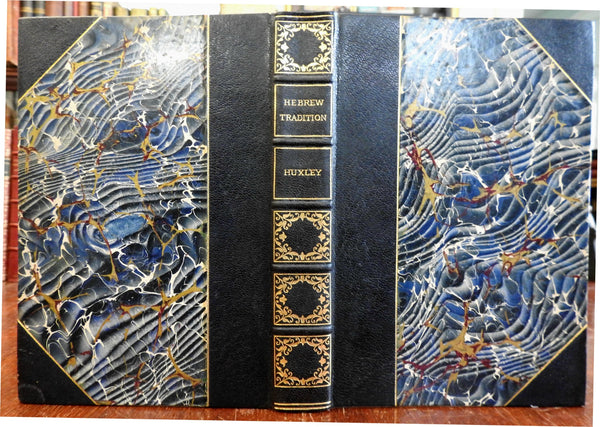 Science & Hebrew Tradition T.H. Huxley c.1890's limited ed. fine leather book