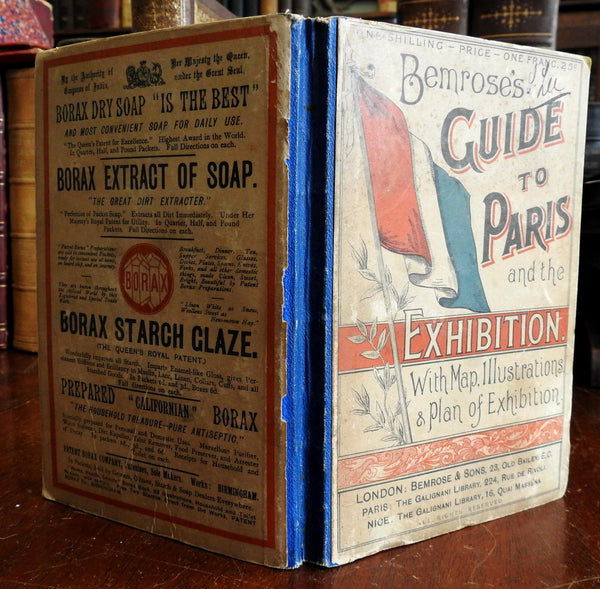 Paris Exhibition 1889 Expo Bemrose illustrated travel guide w/ maps