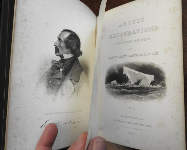 Artic Explorations: The 2nd Grinnell Expedition 1856 Elisha Kane 2 vol. set