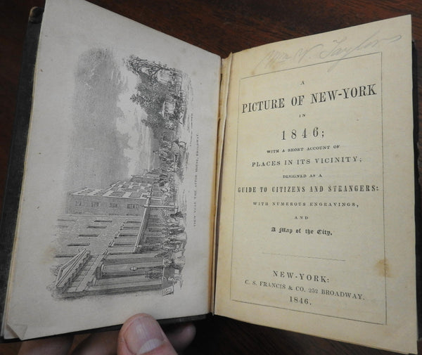Picture of New York in 1846 illustrated tourist guide churches shopping transit