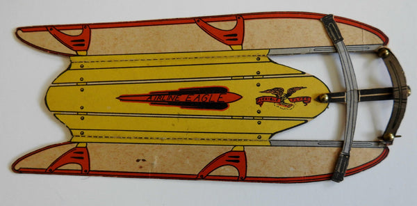 Airline Eagle Sled Paper Model Toy c. 1930's hand made give-a-way premium