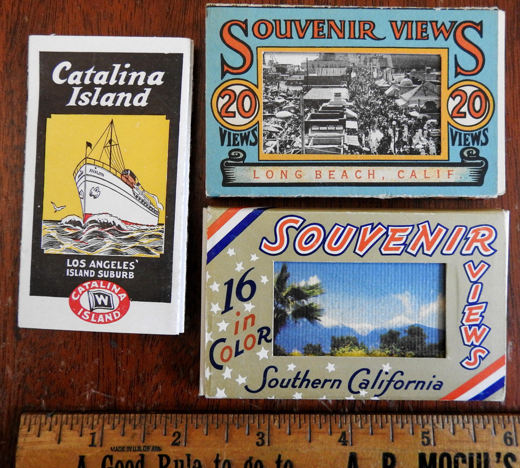 Catalina California Long Beach Travel Souvenirs c. 1910-30 brochure & mini views
