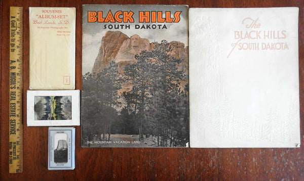South Dakota Black Hills Bad Lands Travel Books Souvenir photo Views 1930's lot